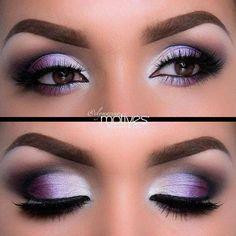 Amazing smokey purple eye makeup