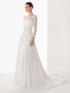 wedding dress chiffon sleeves - Google Search