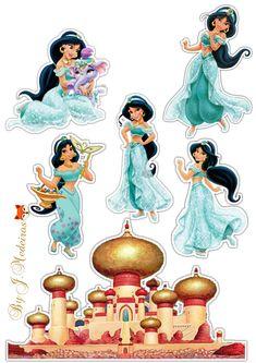 Princess Jasmine Cake, Princess Cakes, 1st Birthday Foods, Jasmin Party, Happy Birthday Banner Printable, Aladdin Party, Princess Cupcake Toppers, Autograph Book Disney, Disney Jasmine