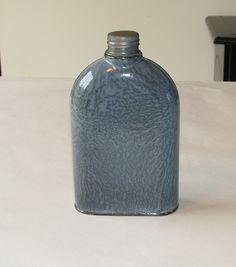 Great American Gray Graniteware FLASK