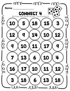connect 4 using THREE dice