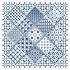 Blackwork Panel 2 PDF chart, pattern