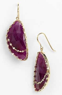 Lana Jewelry 'Stone Gold - Eden' Sapphire Drop Earrings available at #Nordstrom