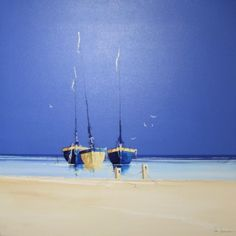 Blue Skies 2 - SOLD - John Horsewell - Seascapes - Room with a View