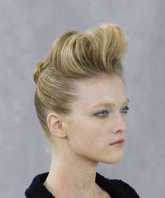coiffure crêpée de style banane - idée tendance 2015