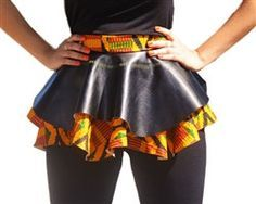 Lace up African Peplum Corset Belt Vegan Leather by RegalClothes African Dresses For Women, African Print Dresses, African Print Fashion, African Attire, African Wear, African Women, Fashion Prints, Mode Wax, African Accessories