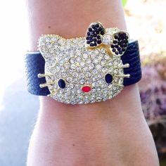 Vegan Leather Kitty Bracelet Faux leather kitty bracelet. 18k plated base metals. Photo credit T&J Designs. Multi color. T&J Designs Jewelry Bracelets