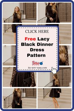 One of the best ways to spice up your wardrobe is with a little black dinner dress. It's the perfect way to step out looking stunning without spending too much time dressing up. This exquisite lace little DIY black dress will make you the centre of attraction wherever you go. The pattern includes a step by step tutorial that walks you through the process of making the dress in simple and easy to understand instructions. #dresspatterns#freedresspatterns#dresssewingpatterns#freesewingpatterns Formal Dress Patterns, Unique Formal Dresses, Dress Sewing Patterns, Lining Fabric, Lace Fabric, Black Dinner Dress, Looking Stunning, Spice Things Up, Walks