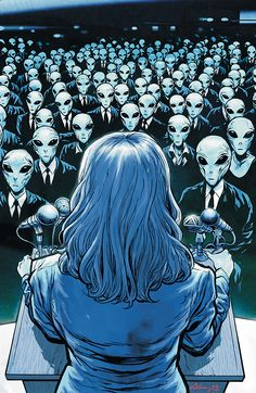 Saucer Country (Vertigo) by Paul Cornell and Ryan Kelly. Cover by Ryan Kelly. Arte Alien, Alien Art, Concept Art Alien, Books New Releases, Vertigo Comics, Sci Fi Comics, Fantasy Comics, Alien Queen, Aliens And Ufos