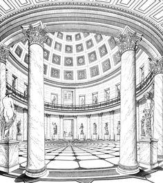 Karl Friedrich Schinkel, Altes Museum, Rotunda, Berlin, Germany, 1823-1830