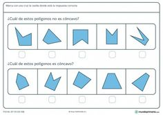Ficha de polígonos cóncavos para 5º de primaria