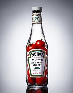 An interesting way to showcase the natural properties of their product; Heinz