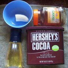 Deep Conditioning, Chocolate Banana honey olive oil, Facial Mask, DIY, skin care, easy, home made