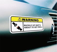 Funny Warning Visor Sticker OEM Car Truck Bumper Window SUV Machine Caution JDM