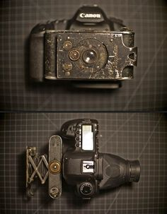 1919 built Piccolette Contessa-Nettel with a Zeiss Ikon 7.5cm f6.3 lens together with a Canon EOS 1Ds Mark II