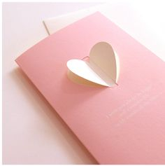 Pink Heart Wings Card