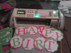 Birthday banner with Cricut