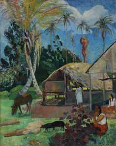 The Black Pigs  Artist:Paul Gauguin (Paris 1848 – 1903 Atuona, Marquises Islands)  Date:1891 Szépművészeti Múzeum - Gyujtemenyi kereső angol - Artwork Budapest