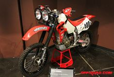 This 2004 Honda XR650R is the winningest bike in Baja history, earning nine straight class win and finishing in the top five overall of every race in which it competed. It was ridden by Jim O'Neal, Jeff Kaplan, Tim Withers and Jeff Sheets. Its best finish was third overall at the 2006 Baja 1000.