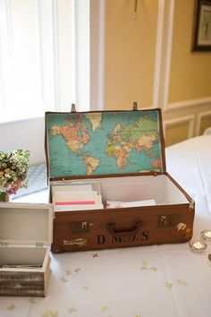 Include a map of the world or a photograph of your honeymoon destination.