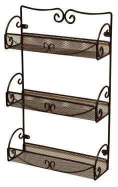 Spice Herbs Rack 3 Tier Wall Mounted Kitchen Jar Organizer Storage Holder Decor #DecoBrothers