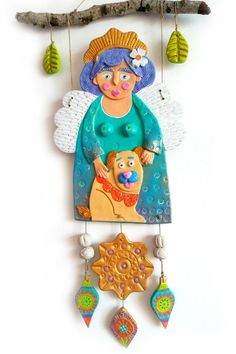 Air Dry Clay, Christmas Ornaments, Holiday Decor, Art Teachers, Feelings And Emotions, Angels, Step By Step, Xmas, Appliques