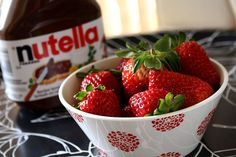 Nutella and strawberries