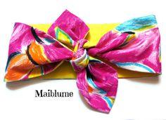 Haarband  Rockabilly *Tropical Style* von Maiblume - fiore di maggio auf DaWanda.com