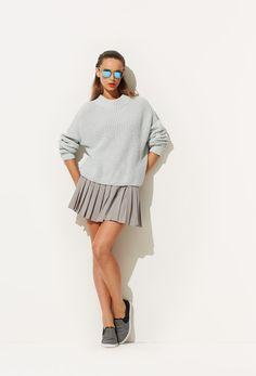 Grey Minimal. #knits #slipons #sneakers #pleats #90s