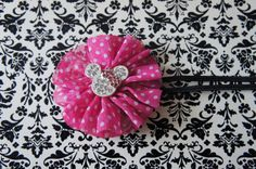 Minnie Mouse Inspired Headband... Newborn...Infant by SolaBowtique