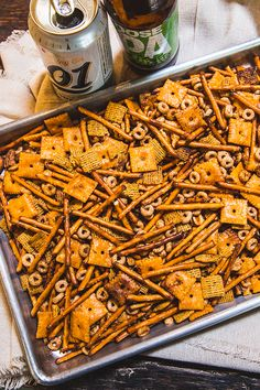 Diva Q created this Chex party mix recipe with a variety of savory cereals, it's baked on the Traeger & tastes delicious. This party snack recipe is a great neighbor gift. Traeger Recipes, Grilling Recipes, Pork Recipes, Recipies, Grilling Ideas, Egg Recipes, Meat Appetizers, Appetizer Recipes, Pellet Grill Recipes