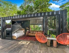 Shared by dan griffiths.mx … ❤️ Another stunning example of shipping conta… Shared by dan griffiths.mx … ❤️ Another stunning example of shipping container aesthetics, this is the perfect adult play pen. Tiny Container House, Building A Container Home, Cargo Container Homes, 20ft Container, Shipping Container Home Designs, Shipping Container Homes Australia, Converted Shipping Containers, Shipping Container Houses, Shipping Container Conversions