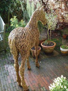 Willow Horse Sculpture / Equines Race Horses Pack HorseCart Horses Plough Horsess sculpture by artist Emma Walker titled: 'Foal (Lifesize Willow garden/Yard ? Indoors sculpture/statues)'