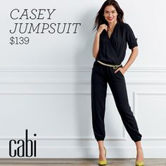 The jumpsuit trend is still going strong and Casey is the epitome of classy styling! Comfortable enough for lounging yet tailored enough for the office! www.staceharris.cabionline.com