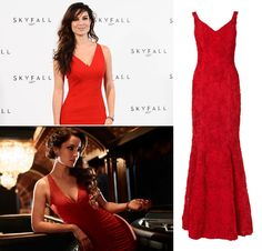 Bond Girl Style - Bond Girl Elektra King in The World is Not Enough. Get the look with the red Chelsea Dress. The perfect Bond Girl dress!