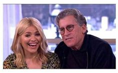 He's a fan! Holly Willouhgby had to fend off the affections of lovestruck Starsky & Hutch star Paul Michael Glaser, on Thursday's installment of This Morning Paul Michael Glaser, Starsky & Hutch, Holly Willoughby, Liverpool, Husband, Holiday Cookies, Mail Online, Daily Mail, Hands