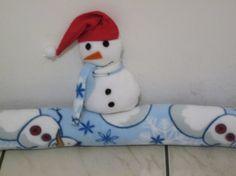 snowman draft stopper pillow