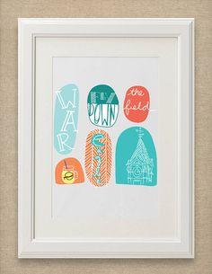 """Auburn University Art Print """"Doodle"""""""