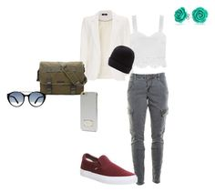 """White & Green"" by palefiction ❤ liked on Polyvore featuring Wallis, J Brand, Vans, Marc by Marc Jacobs, Bling Jewelry, Maine New England, Michael Kors and Tom Ford"