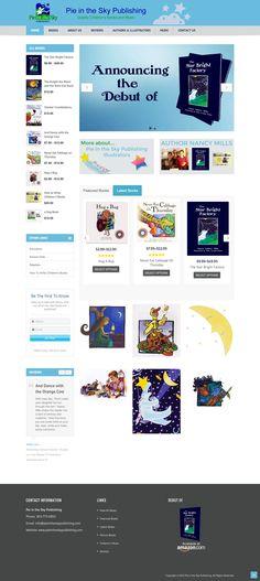 www.PieInTheSkyPublishing.com Pie In The Sky, Portfolio Website, Illustrators, Web Design, Books, Livros, Design Web, Livres, Book