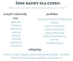 Pod jakimi określeniami na etykietach ukryty jest cukier? #sugar #overweight #labels #diet #health #stevia #xylitol #aspartame