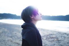 blue | photographer: 国分真央 | model: アオイミヅキ
