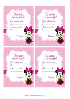 Kids Birthday Party Invitations, 1st Birthday Parties, Birthday Decorations, Minnie Birthday, Minnie Mouse Party, Unisex Baby Shower, Mickey Mouse Wallpaper, Happy Birthday Messages, Holidays And Events