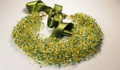 Air necklace mustard gift for women Beaded от ArtbijouDesign