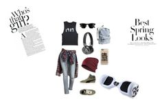 """""""Untitled #18"""" by marieamalieholm on Polyvore featuring Charlotte Russe, Puma, Master & Dynamic, Casetify, H&M and Ray-Ban"""