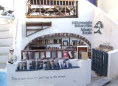 Atlantis Books is an independent bookshop on the island of Santorini, Greece, founded in 2004 by a group of friends from Cyprus, England, and the United States.