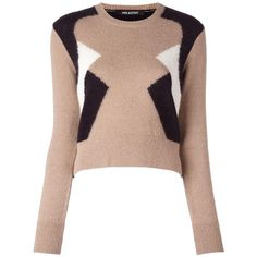 Designer Clothes, Shoes & Bags for Women Sweater And Shorts, Long Shorts, Long Sleeve Sweater, Long Sleeve Tops, Colour Block, Color Blocking, Long Sweaters, Sweaters For Women, Preppy Trends