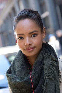 Malaika Firth outside Jason Wu FW14