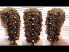 Прическа на выпускной. Воздушное плетение. Prom hairstyle - YouTube