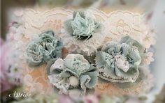 Fleurs en lin bleues